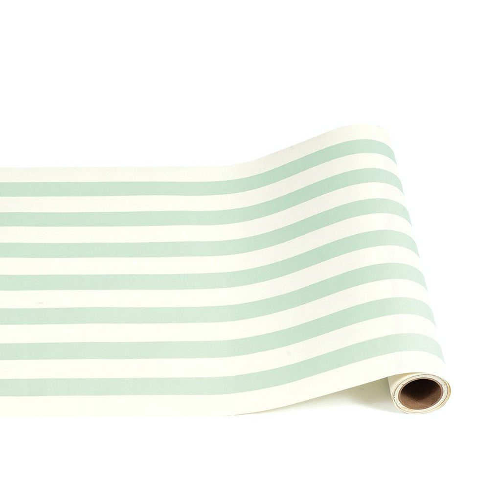 seafoam: paper table runner