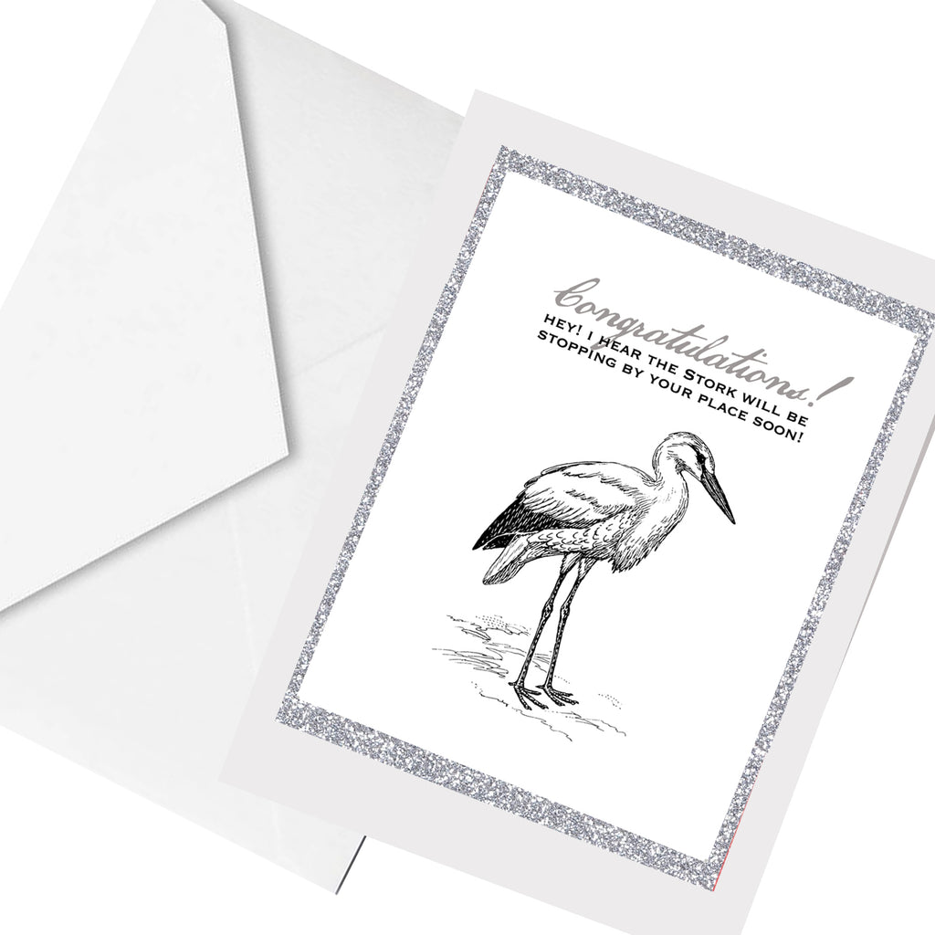 stork arrival ... greeting card
