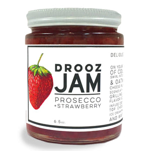 prosecco + strawberry JAM