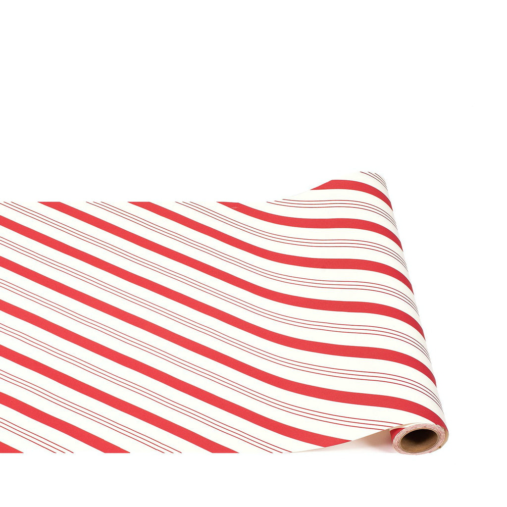red candy stripe : paper table runner