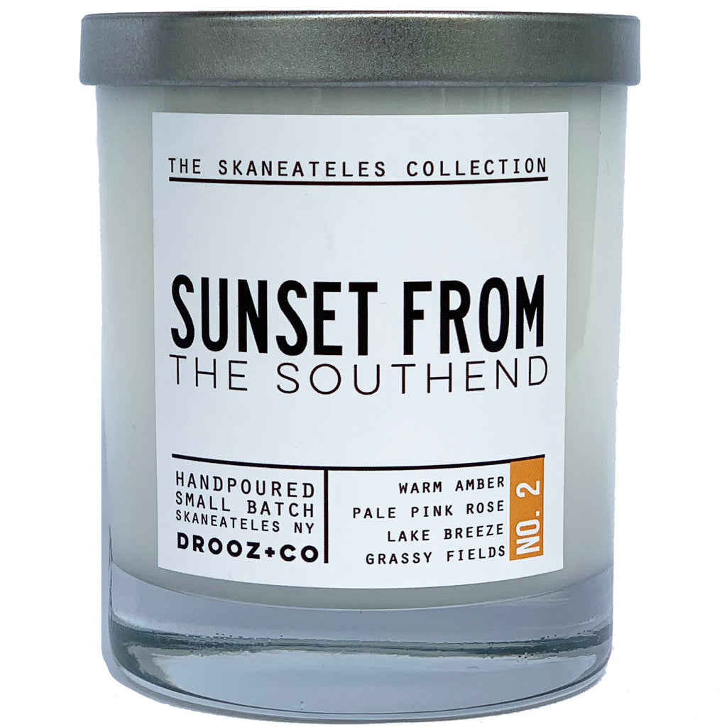 Sunset from the Southend {Skaneateles Collection} Drooz Candle No.2
