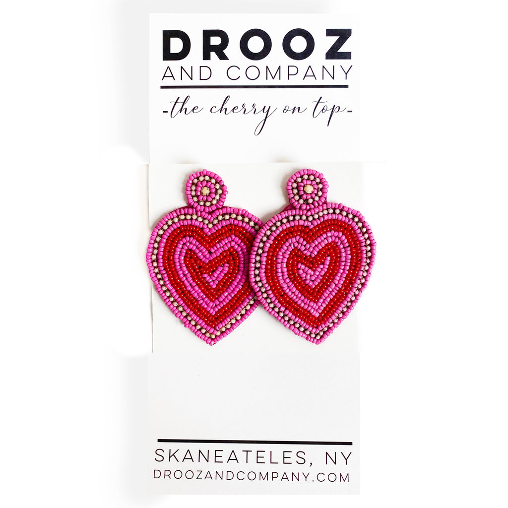 Super Heart Earring- the cherry on top