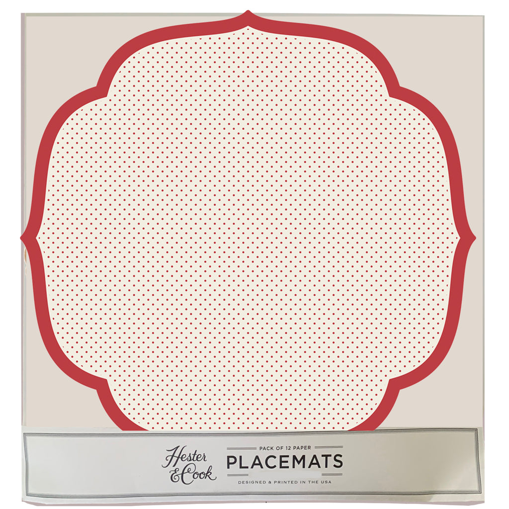 Swiss Dot Die cut  Placemat Sheets Placemat