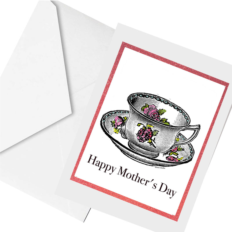 teacup mom ... greeting card