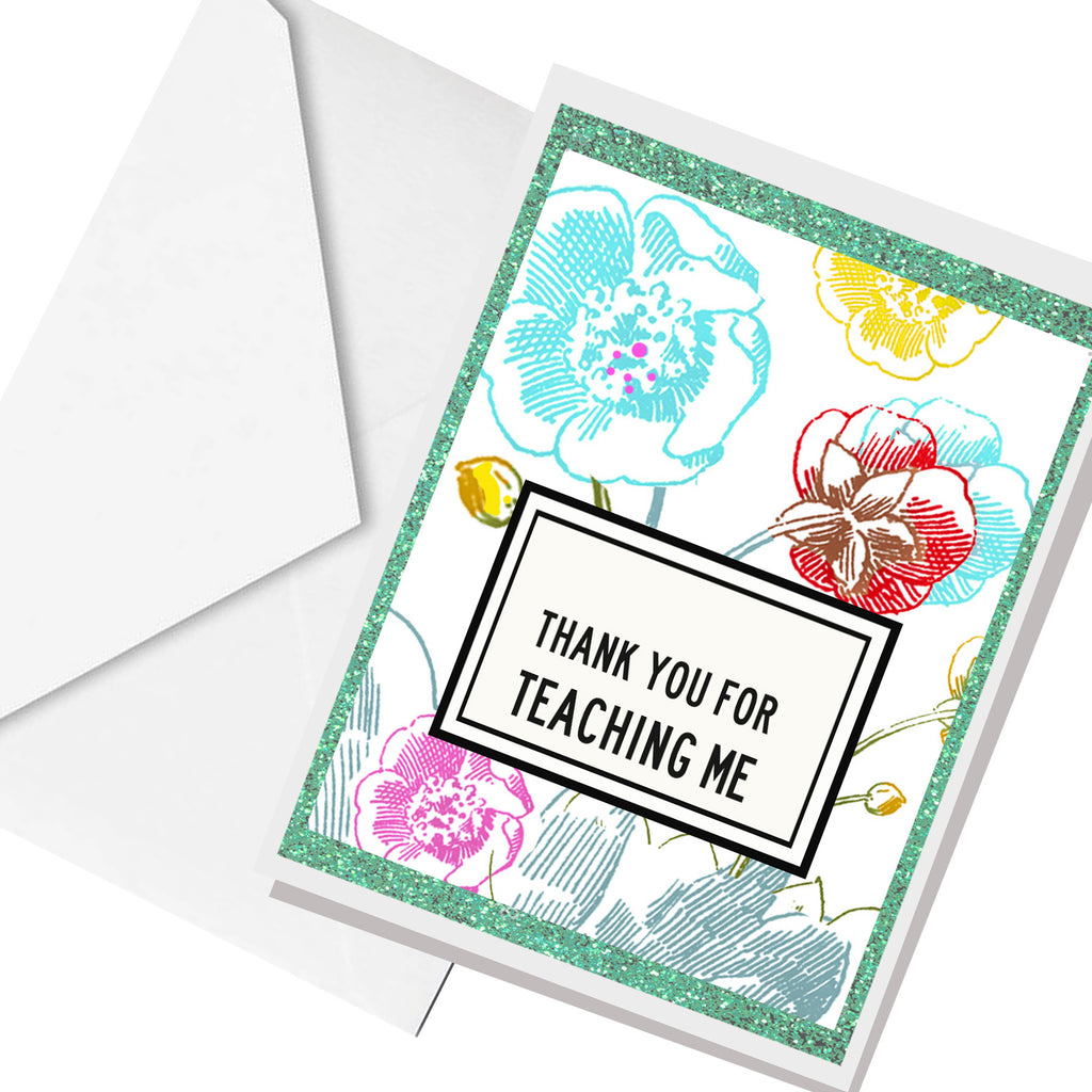 thank you teacher ... greeting card