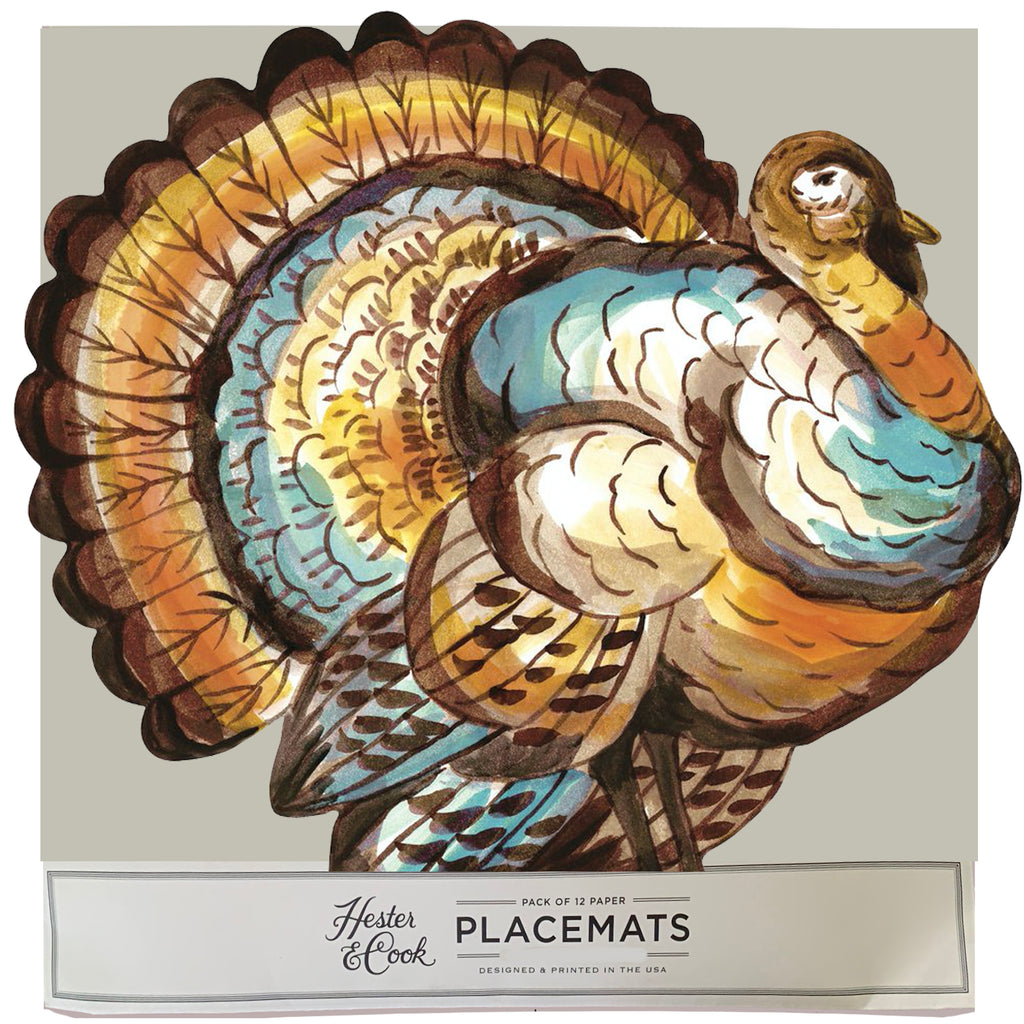 turkey Die-Cut Placemat Sheets Placemat