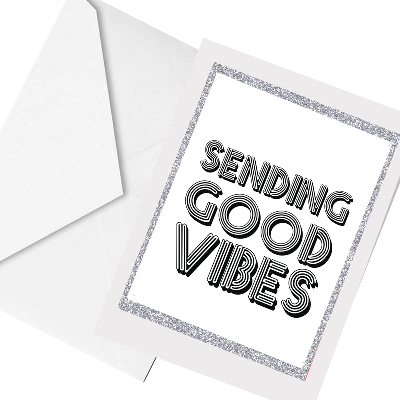 sending GOOD vibes ... greeting card