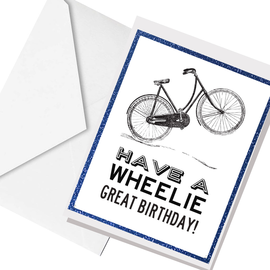 wheelie great... greeting card
