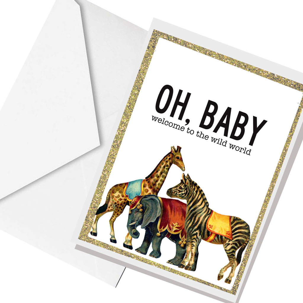welcome to the wild world... greeting card