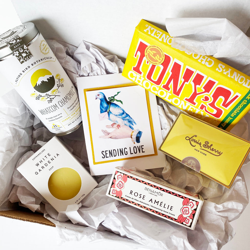 "Yellow ""SENDING LOVE"" Gift Box"
