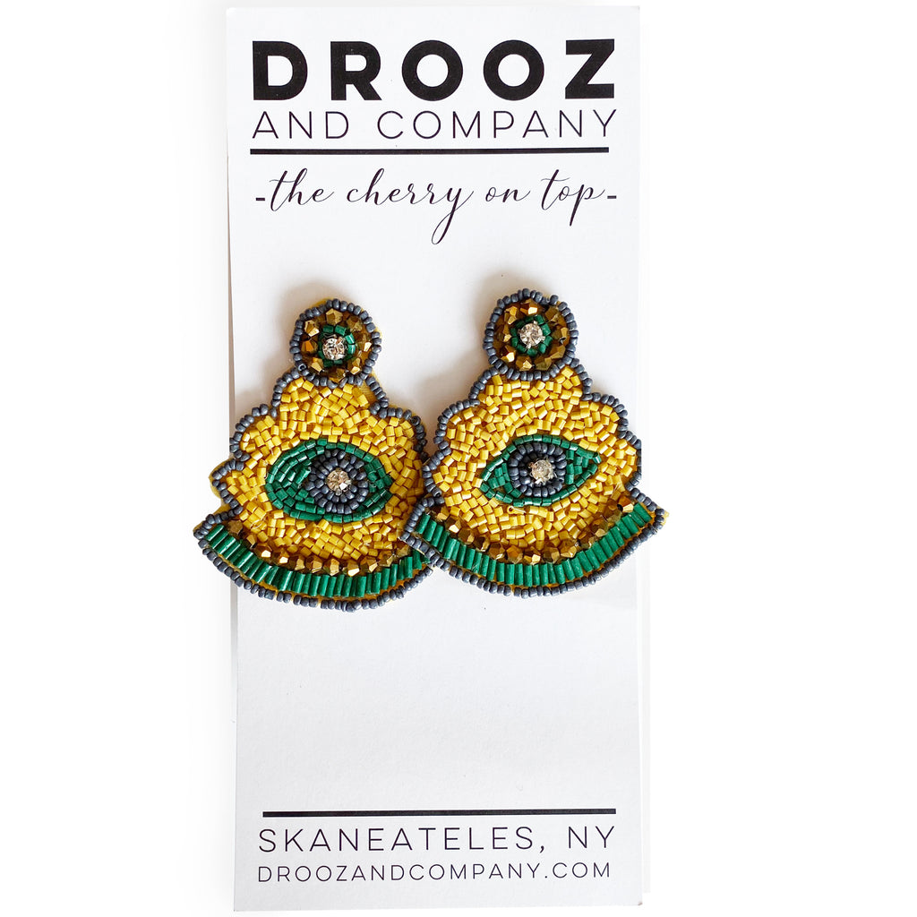 Yellow Eye Earring- the cherry on top