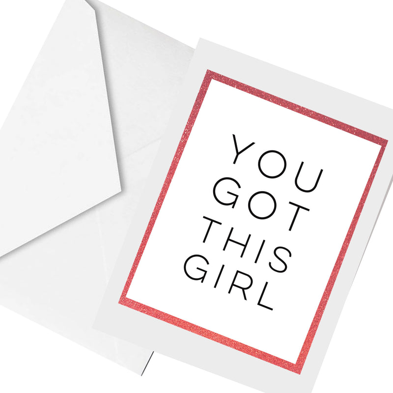you got this... greeting card
