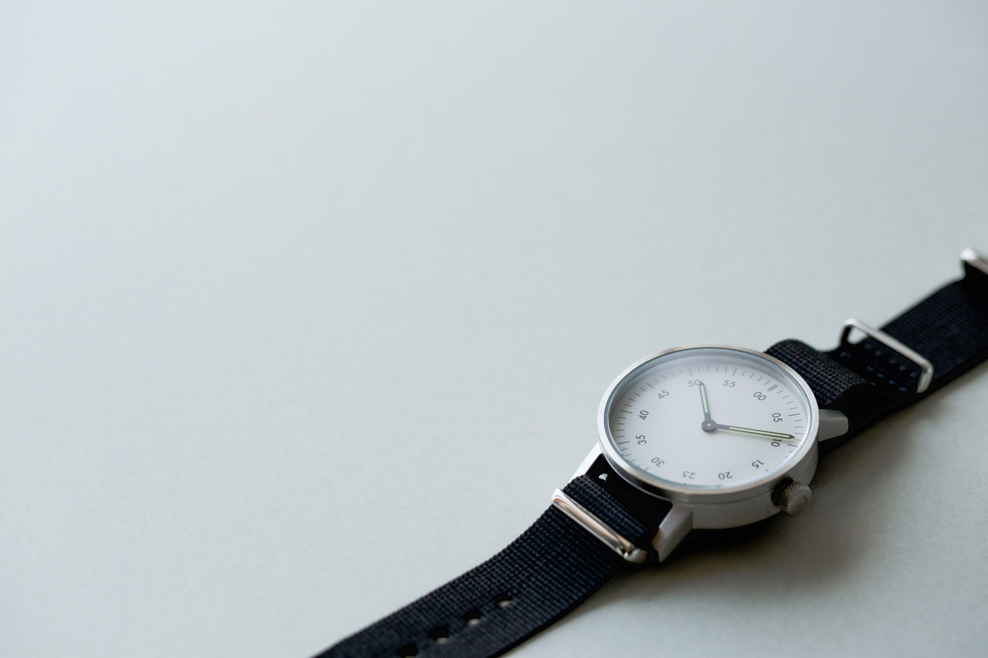 The V03B with a nylon NATO Strap by Swedish designer David Ericsson.