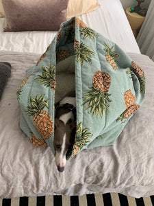 Burrow Bed - Pineapple Tapestry