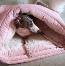 Burrow Bed - Blush Pink Velvet