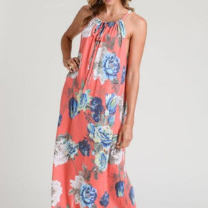 Coty Coral Halter Dress