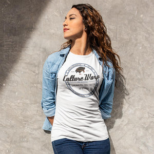 White (Original) Culture Warp Christian T-Shirt. The shirt style is Classic Unisex T-Shirt , size S. The design is Traditions & Values - Classic Collection.