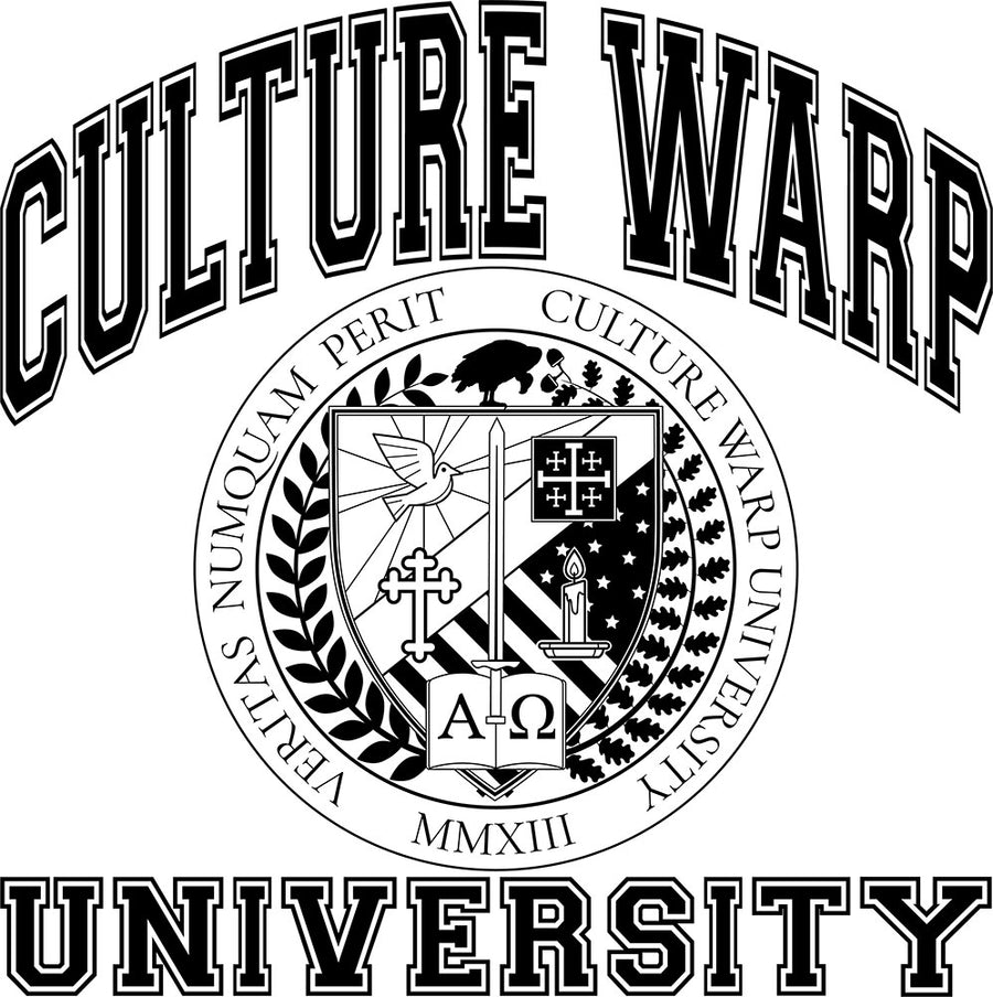 White/Black Culture Warp Christian T-Shirt. The shirt style is Classic Unisex T-Shirt , size S. The design is Traditions & Values - CWU Collection.