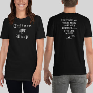 Black Culture Warp Christian T-Shirt. The shirt style is Classic Unisex T-Shirt , size S. The design is Come to Me - Cocytus Collection.