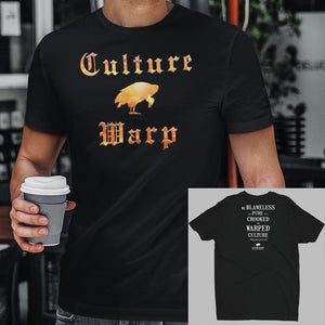 Black Culture Warp Christian T-Shirt. The shirt style is Men's Fashion T-Shirt , size S. The design is Blameless and Pure - Inferno Collection.