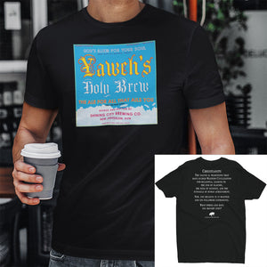 Black Culture Warp Christian T-Shirt. The shirt style is Men's Fashion T-Shirt , size S. The design is Traditions & Values - Yaweh's Holy Brew Collection.