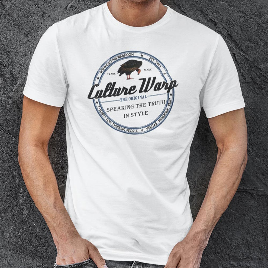 White (Original) Culture Warp Christian T-Shirt. The shirt style is Classic Unisex T-Shirt , size S. The design is Blameless and Pure - Classic Collection.
