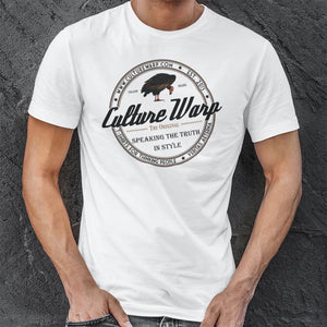 White (Original) Culture Warp Christian T-Shirt. The shirt style is Classic Unisex T-Shirt , size S. The design is Come to Me - Classic Collection.