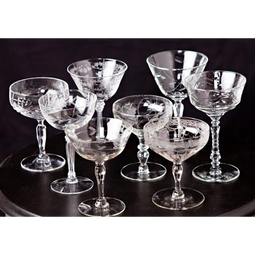 Vintage Glass Coupes