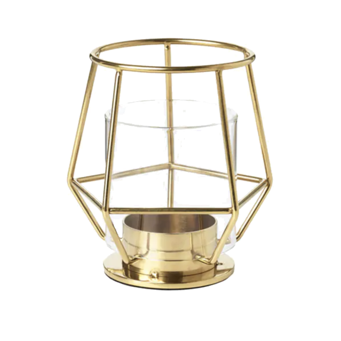 Gold Geometric Tealight Holder