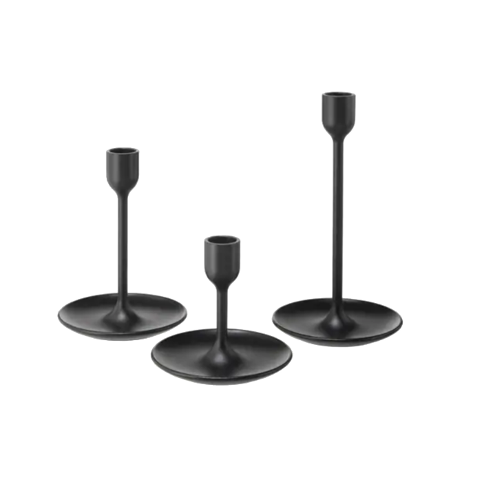 Matte Black Candlestick Holder