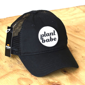 plant babe women's hat- black