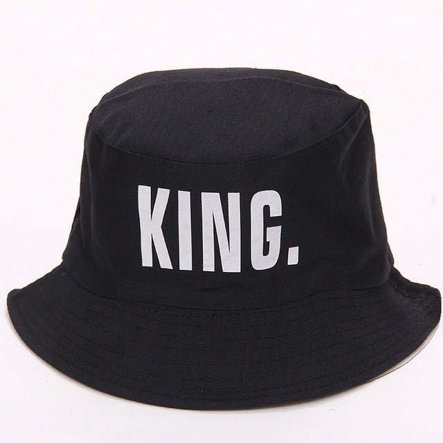 King/Queen Embroidered Bucket Hat