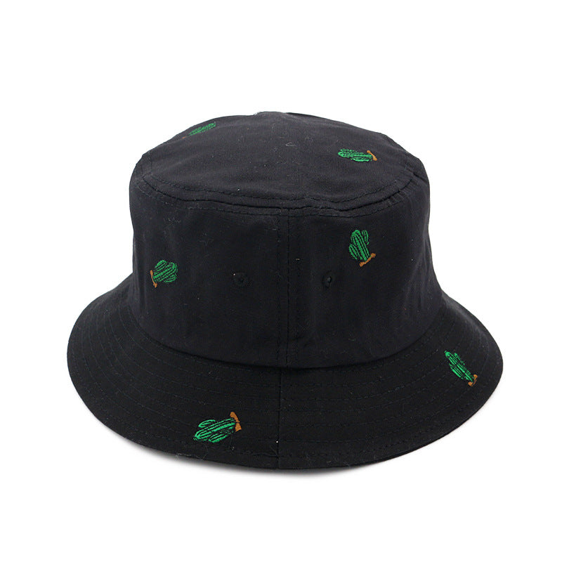 Embroidered Green Cactus Bucket Hat