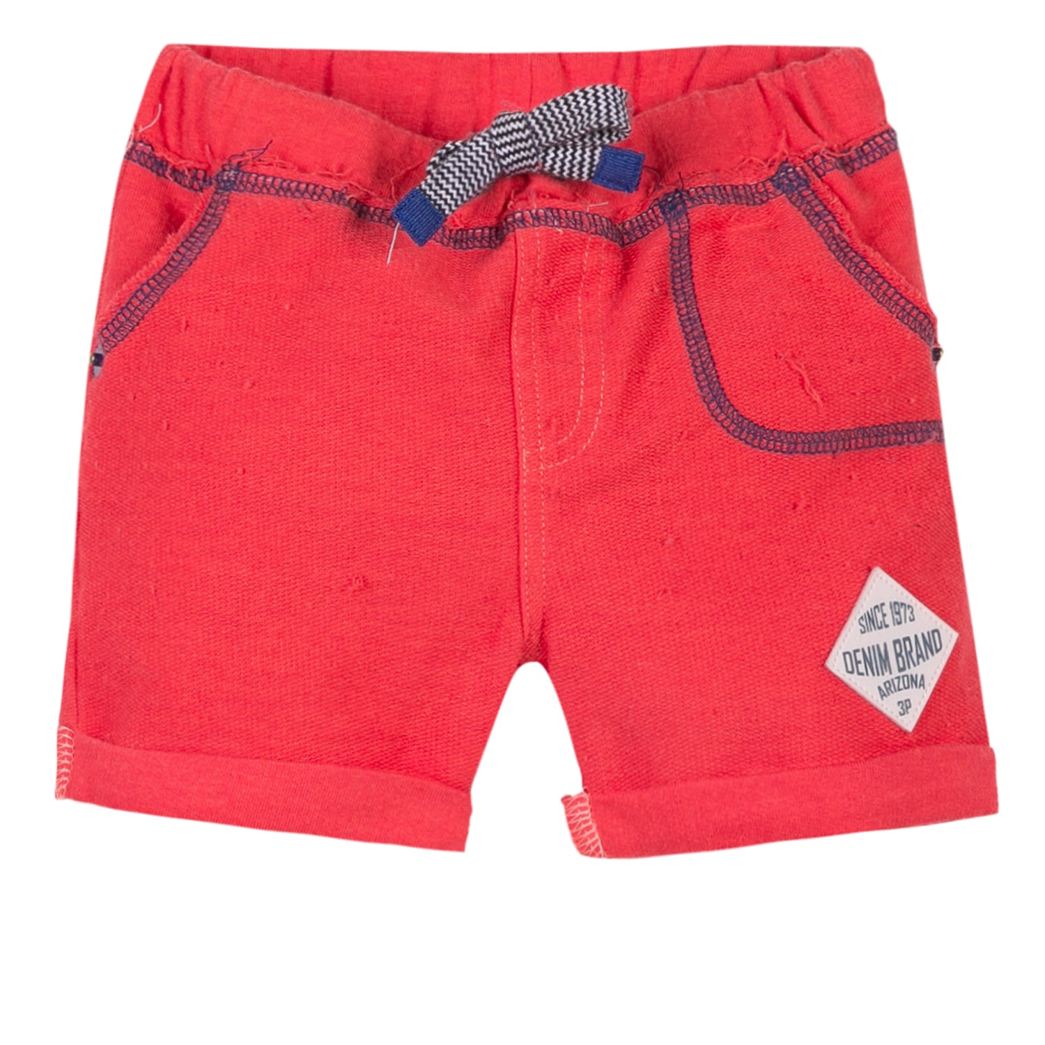 3Pommes Coral Red Shorts