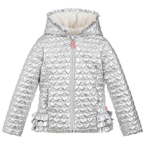 Billieblush Silver Quilted Jacket