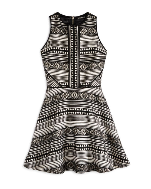 Miss Behave Girls - Kate Geometric Dress
