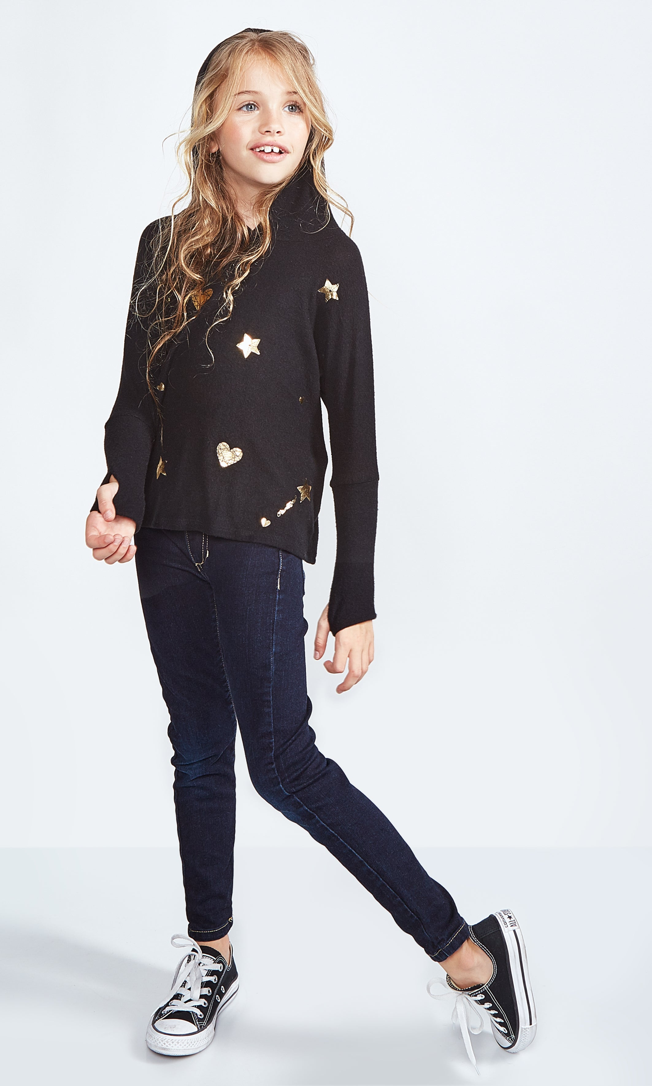 Lauren Moshi Kids Black and Gold Pullover