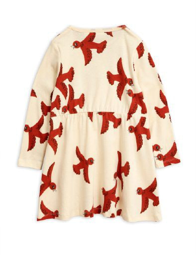 Mini Rodini Flying Birds Long Sleeve Dress