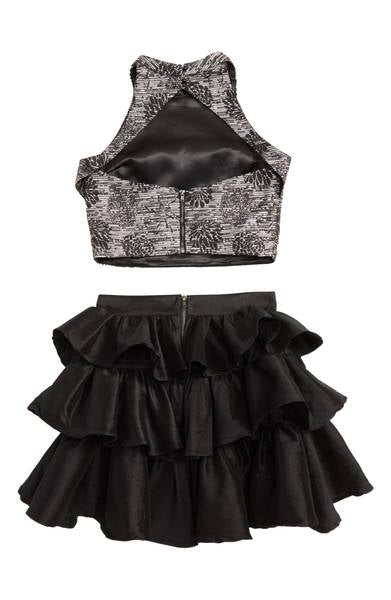 Miss Behave Girls - Kayla Black 2 Piece Skirt Set