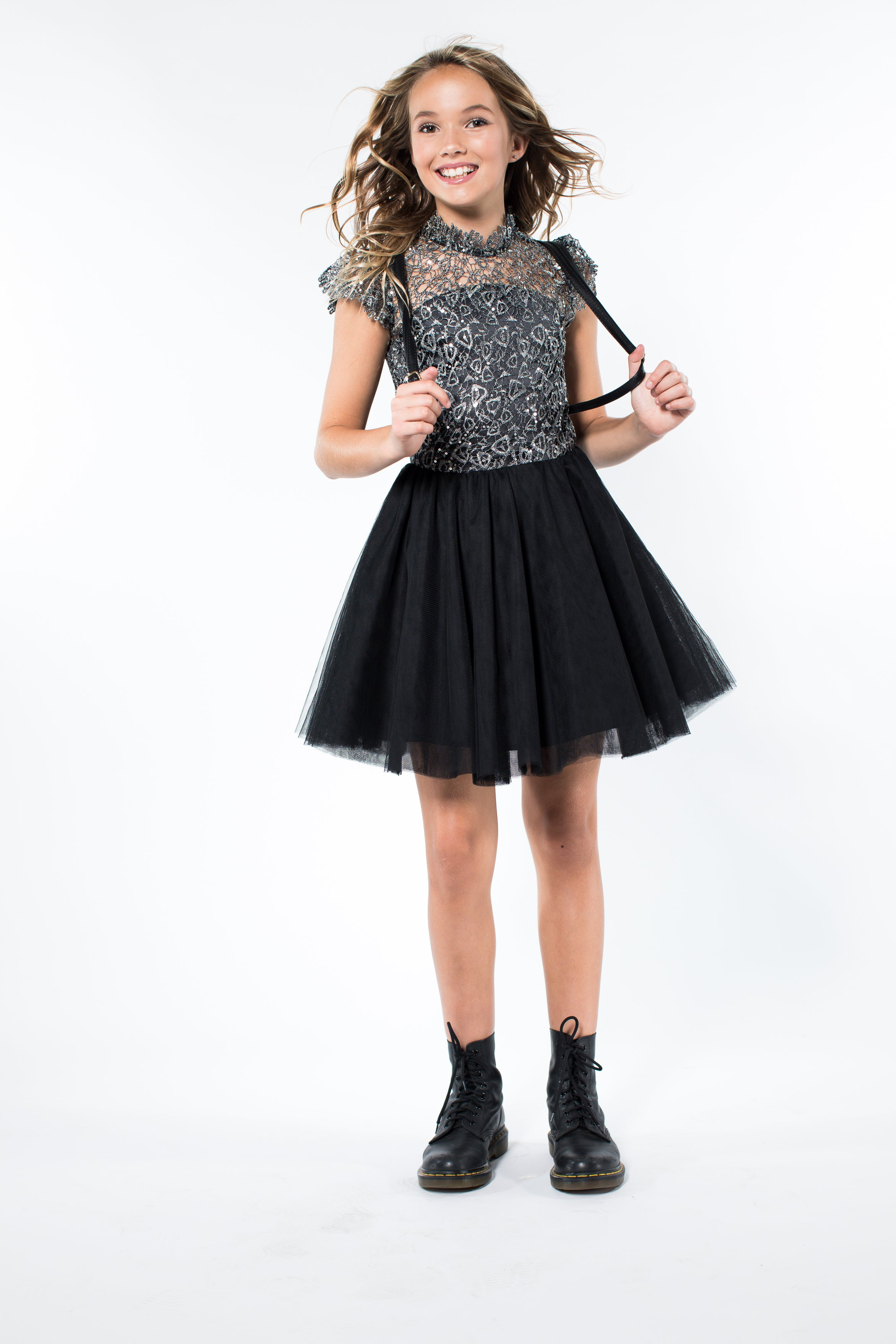 76ba45c11c3 Miss Behave Girls - Rocky Lace Sequin Top Tulle Dress