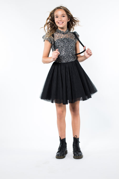 Miss Behave Girls - Rocky Lace Sequin Top/Tulle Dress