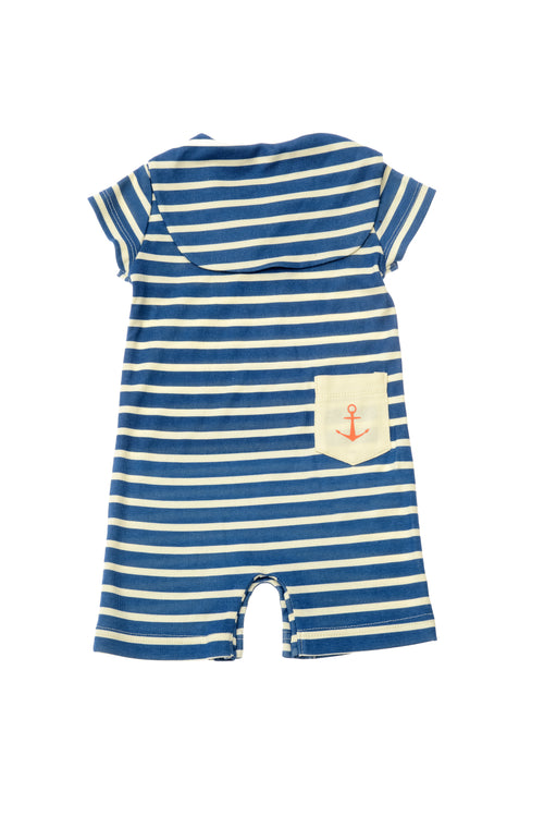 Lucky Jade Nautical Boys Stripe Romper