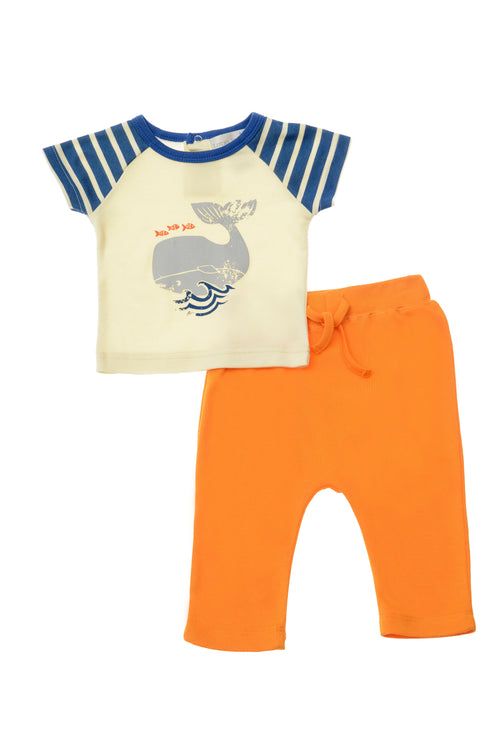 Lucky Jade Nautical Boys Whale Shirt Set