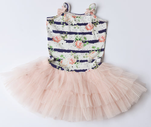 Ooh! La, La! Couture Stripe and Floral print tutu