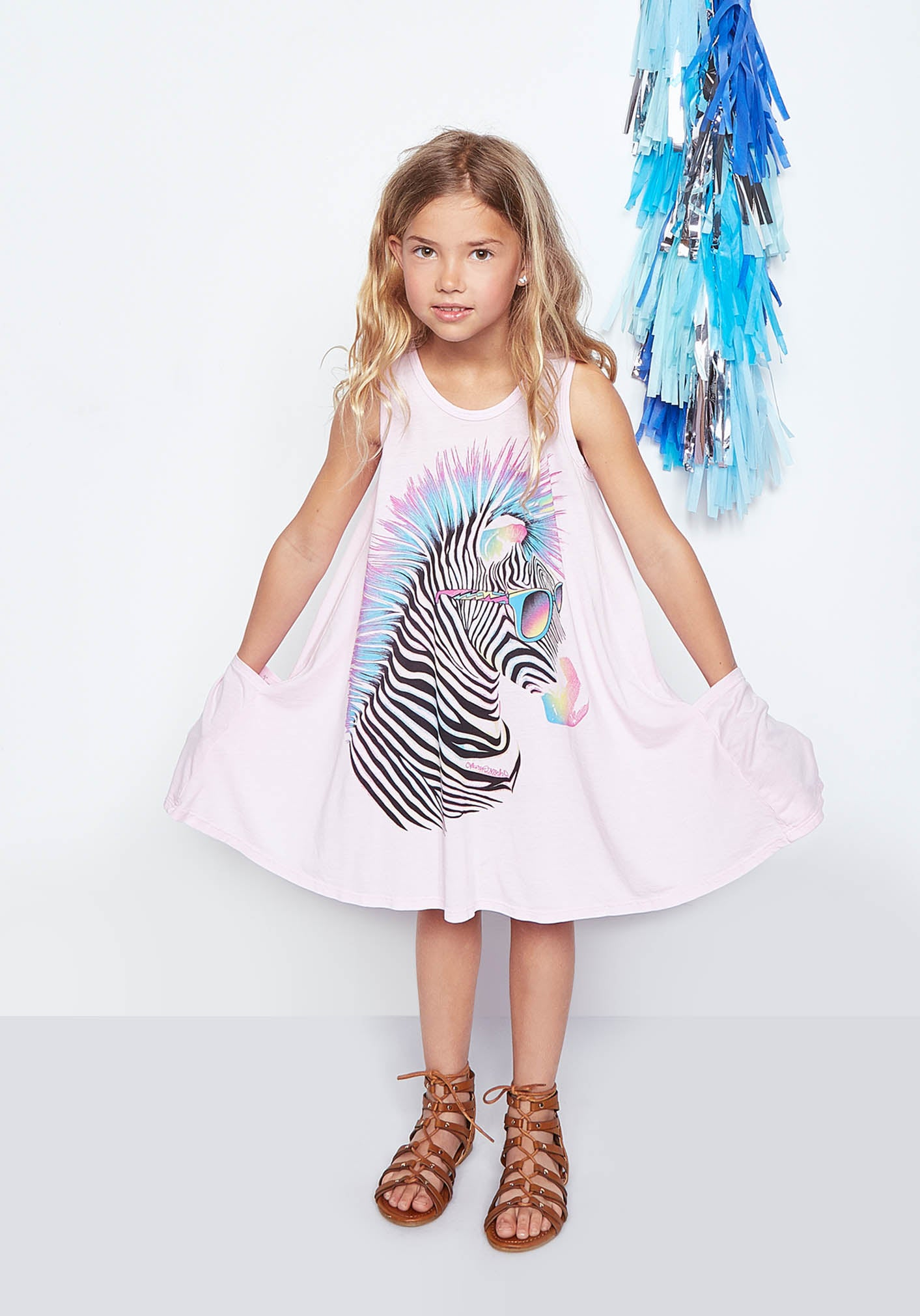 Lauren Moshi Kids - Elsa Tank Dress w/ Pockets