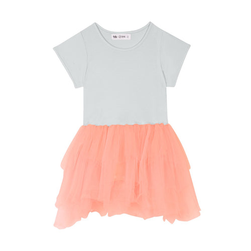 Tate & Lennox Callum Dress - Grey/Peach