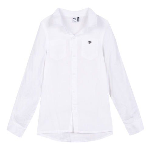 3Pommes White Collar Shirt