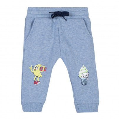 Kenzo Kids Marl Light Blue Pants