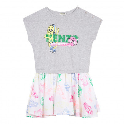 Kenzo Kids Marl Grey Dress