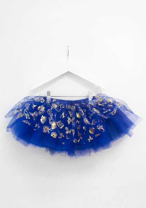 TutuCouture Belle 2pc Graphic Tee & Romantic Print Tutu Skirt